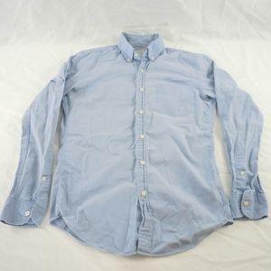 J Crew Sunwashed Oxford Button Down Shirt Blue